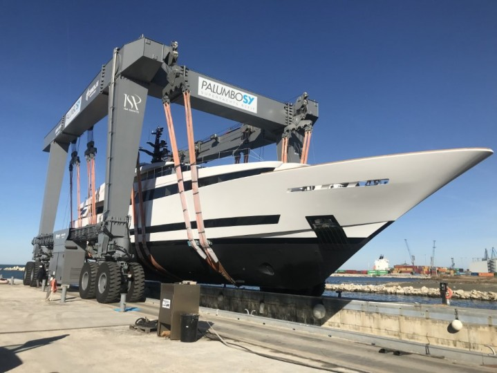 ISA 43m motoryacht AGORA III launched Jan 16th 2018 1