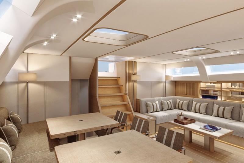 Swan 98 interior classic white a1000x667