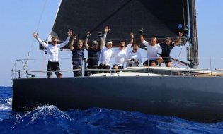 The Katariina II team celebrating their Class C victory at the 2018 ORC European Championship in Limassol, Cyprus - photo Nikos Pantis